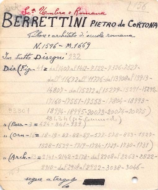 Autore Berrettini Pietro detto Pietro da Cortona